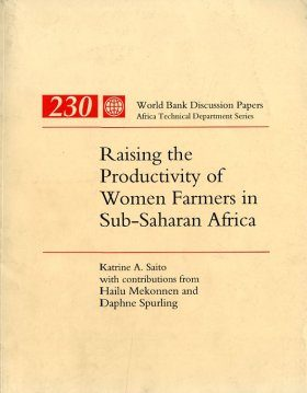 Raising the Productivity of Women Farmers in Sub-Saharan Africa