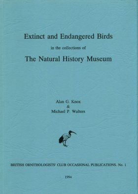 Extinct and Endangered Birds in the Collections of the Natural History Museum