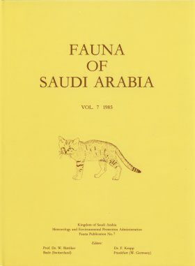 Fauna of Saudi Arabia, Volume 7