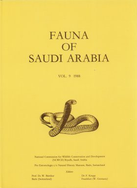 Fauna of Saudi Arabia, Volume 9