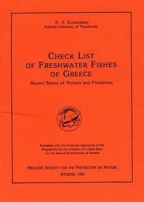 Check List of Freshwater Fishes of Greece
