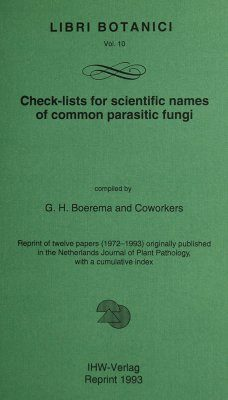 Checklists for Scientific Names of Common Parasitic Fungi