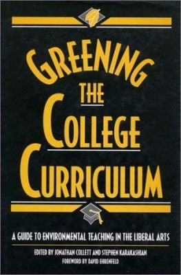 Greening the College Curriculum