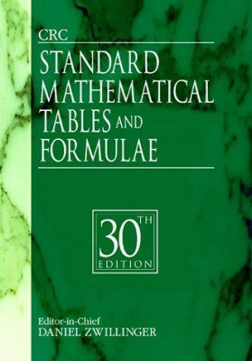 The CRC Standard Mathematical Tables and Formulae