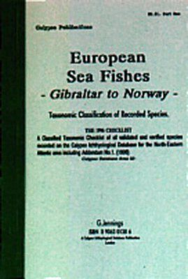 European Sea Fishes, Taxonomic Classification of Recorded Species