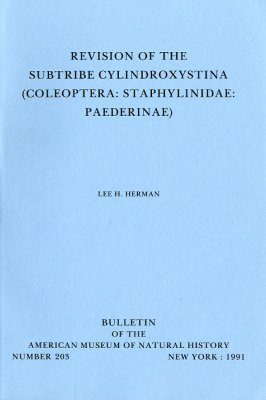 Revision of the Subtribe Cylindroxystina (Coleoptera: Staphylinidae: Paederinae)