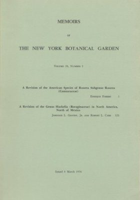 A Revision of the American Species of Rourea Subgenus Rourea (Connaraceae) / A Revision of the Genus Hackelia (Boraginaceae) in North America, North of Mexico