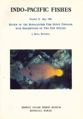 Review of the Monacanthid Fish Genus Pervagor, with Descriptions of Two New Species
