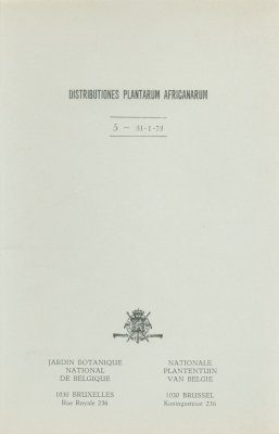 Distributiones Plantarum Africanarum [French], Fascicle 5: Rubiaceae