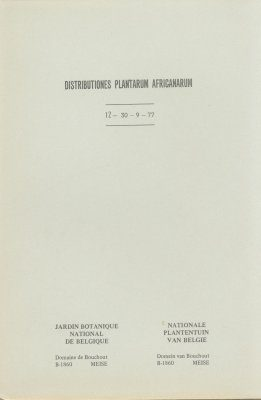 Distributiones Plantarum Africanarum [French], Fascicle 12: Rubiaceae, Thuidiaceae