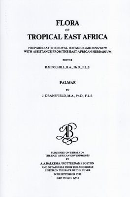 Flora of Tropical East Africa: Palmae