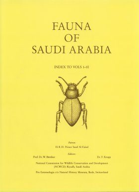 Fauna of Saudi Arabia: Index to Vols 1-10