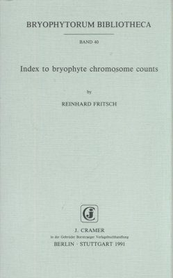 Index to Bryophyte Chromosome Counts