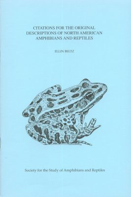 Citations for the Original Descriptions of North American Amphibians and Reptiles