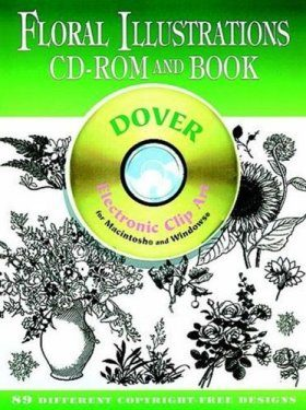 Floral Illustrations CD-ROM and Book