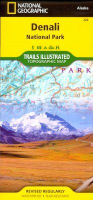Alaska: Map for Denali National Park & Preserve