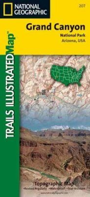 Arizona: Map for Grand Canyon National Park