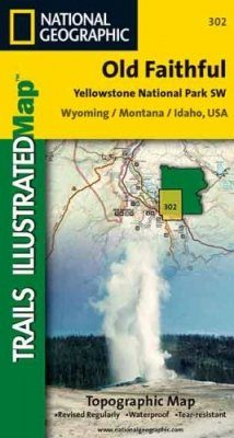 Wyoming: Map for South-West Yellowstone - Old Faithful
