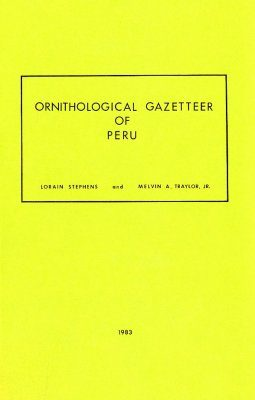 Ornithological Gazetteer of Peru