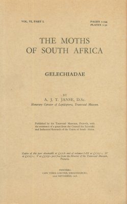 The Moths of South Africa, Volume 6, Part 1 (1958): Gelechiadae