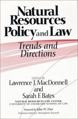 Natural Resources Policy and Law