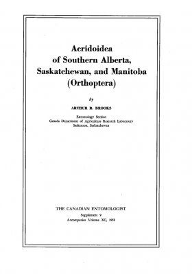 Acridoidea of Southern Alberta, Saskatchewan, and Manitoba (Orthoptera)