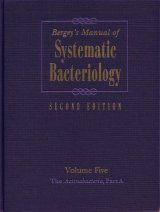 Bergey's Manual of Systematic Bacteriology, Volume 5 (2-Volume Set)