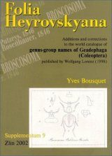 Folia Heyrovskyana, Supplement 9: Additions and Corrections to the World Catalogue of Genus-group Names of Geadephaga (Coleoptera) Published by Wolfgang Lorenz (1998)