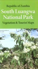 Republic of Zambia: South Luangwa National Park Map: Vegetation and Tourist Map