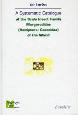 A Systematic Catalogue of the Scale Insect Family Margarodidae (Hemiptera: Coccoidea) of the World