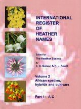 International Register of Heather Names, Volume 2: African Species and Cultivars (4-Volume Set)
