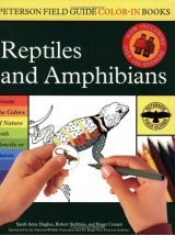 Peterson Field Guide Color-In Books Reptiles and Amphibians with Sticker