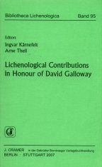 Lichenological Contributions in Honour of David Galloway