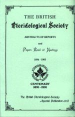 The BPS Abstracts of Reports Read at Meetings 1894-1905
