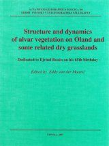Structure and Dynamics of Alvar Vegetation on Oland and Some Related Dry Grasslands
