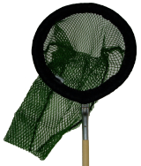 Primate Net With Wooden Handle