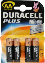 Duracell AA Alkaline Battery (LR6): 4 Pack