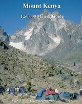Mount Kenya 1:50,000 Map and Guide