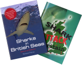 Sharks in British Seas, Edition 2 & Shark Attack Britain: Set of Two Books