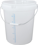 30L Bucket and Lid with Measurement Scale