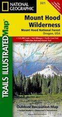 Oregon: Map for Mount Hood Wilderness