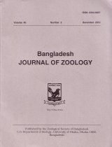 Bangladesh Journal of Zoology, Volume 40, No. 2