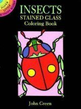 Insects Stained Glass Colouring Book