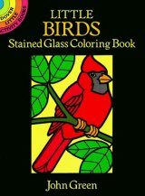 Little Birds Stained Glass Colouring Book