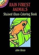 Rain Forest Animals Stained Glass Coloring Book