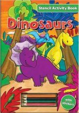 Stencil Activity Book: Dinosaurs