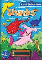 Stencil Activity Book: Sharks