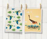 Set of 2 Birdy Tea Towels