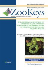 ZooKeys 624: The Amphibians and Reptiles of Mindanao Island, Southern Philippines, II