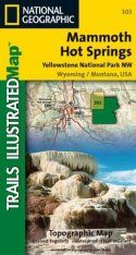 Wyoming: Map for Mammoth Hot Springs Yellowstone National Park NW